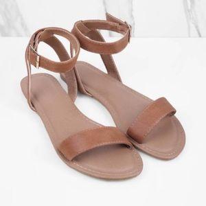 31a99de0256085 Tobi Shoes - Tobi Mocha Ankle Strap Sandals